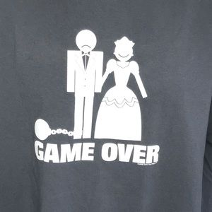 """""""Game Over"""" Funny Marriage T-Shirt sz XL"""